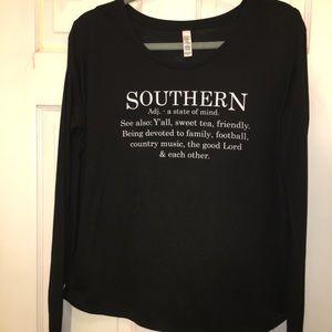 ATX Mafia Long Sleeve T-shirt w/Ribbed Sleeves